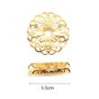 Hajékszer hajgyűrű hajlítható arany #1 mérete
