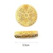 Hajékszer hajgyűrű hajlítható arany #2 mérete