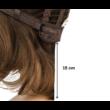 Load 15 cm humán haj paróka - L Choco hajhosszúság