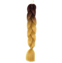 Afro ombre szintetikus haj 30 sötétbarna-arany