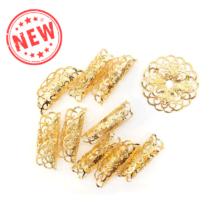 Hajékszer hajgyűrű hajlítható arany 5db #1