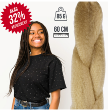 Afro Jumbo Braid szintetikus haj - AKCIÓS színek