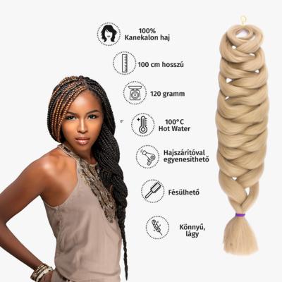 Afro szintetikus kanekalon haj 120g #16 hamvas világosszőke