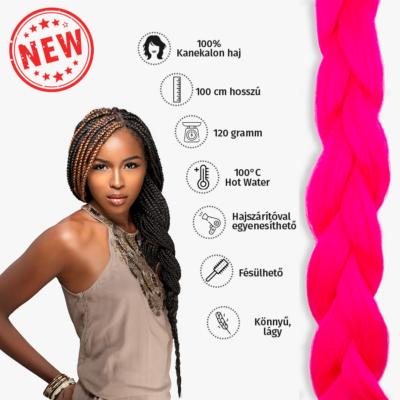 Afro szintetikus kanekalon haj 120g UV pink