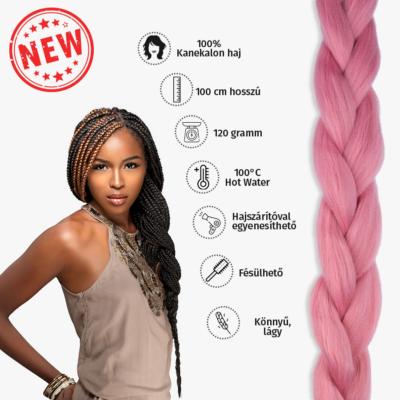 Afro szintetikus kanekalon haj 120g mályva