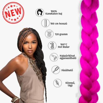 Afro szintetikus kanekalon haj 120g ciklámen