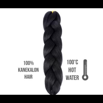 Afro szintetikus 100% kanekalon haj 1 fekete