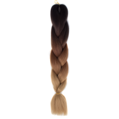 Afro ombre szintetikus haj 53 fekete-sötétbarna-karamell