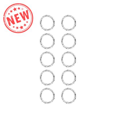 Hajékszer karika mintás ezüst 10db