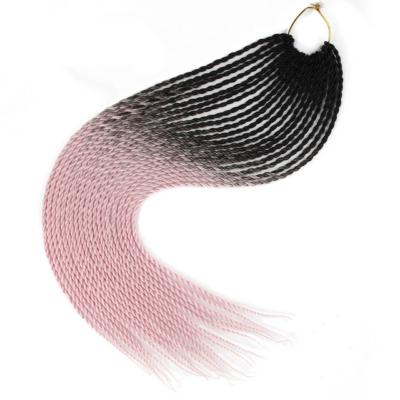 Afro ombre twist szintetikus haj - fekete-pink