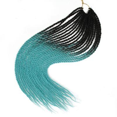 Afro ombre twist szintetikus haj - fekete-türkiz