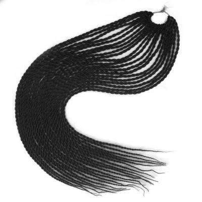 Afro ombre twist szintetikus haj - fekete