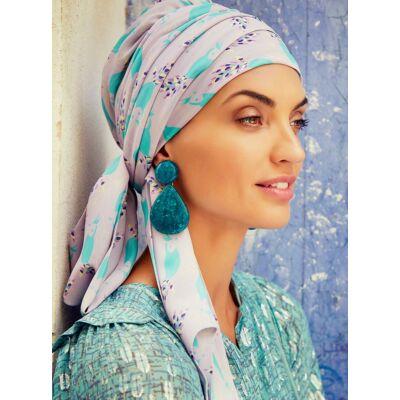 Christine Sapphire Boho Turban Set 3022-0644