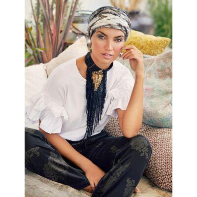 Christine Scarlett - Boho Turban Set- mintás 3031-0731