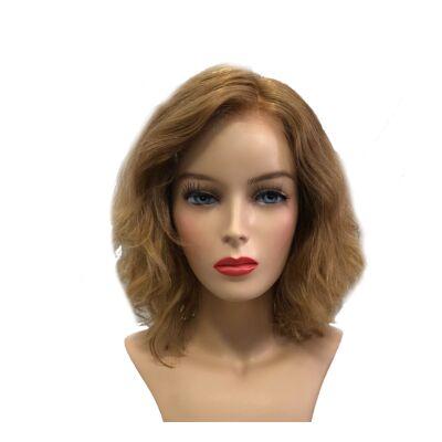 Liza 30 cm humán haj paróka - Light Caramel