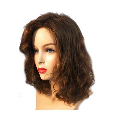 Natur Liza wavy 35 cm humán haj paróka - Sandy Blonde