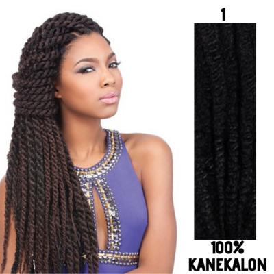 Afro raszta szintetikus 100% kanekalon haj - 1