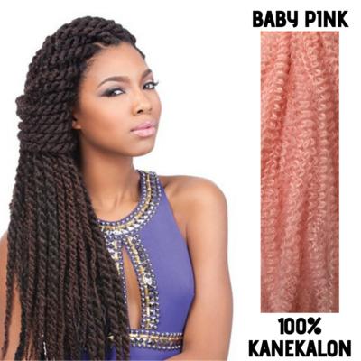 Afro raszta szintetikus 100% kanekalon haj - Baby Pink