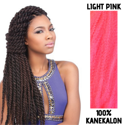 Afro raszta szintetikus 100% kanekalon haj - Light Pink