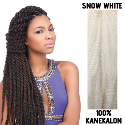 Afro raszta szintetikus 100% kanekalon haj - Snow White