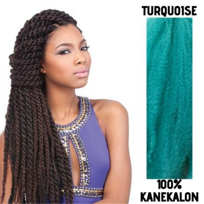 Afro raszta szintetikus 100% kanekalon haj - Turquoise