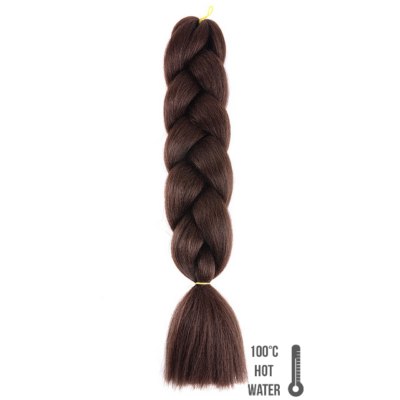 Afro szintetikus haj 4 középbarna