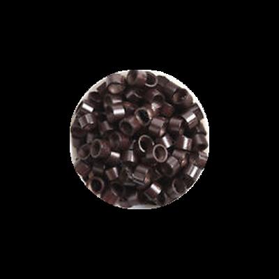 Mikrogyűrű hajhosszabbításhoz 4,5mm sötétbarna