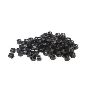 Mikrogyűrű hajhosszabbításhoz II. osztályú fekete 4,5mm