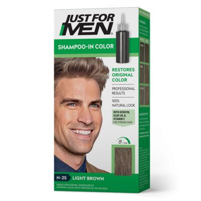 Just for Men Shampo-In hajszínező - H-25 világos barna