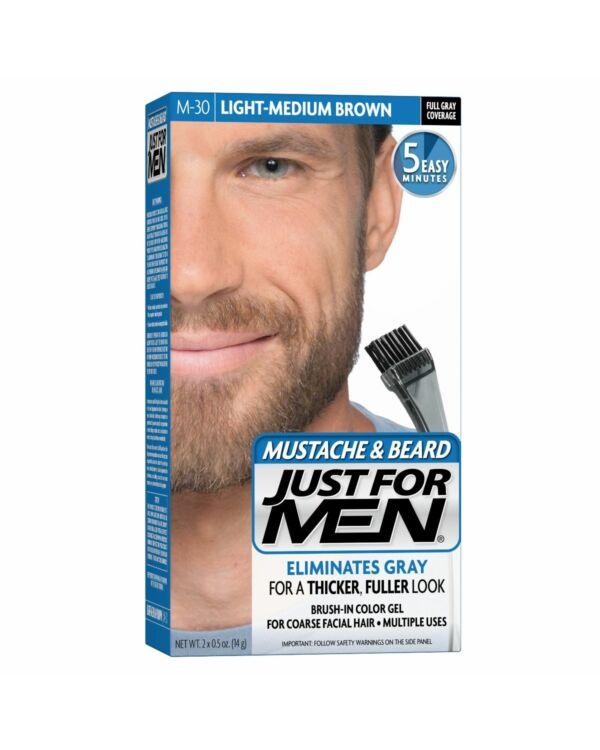 Just for Men szakáll és bajusz színező - világos közép barna M-30