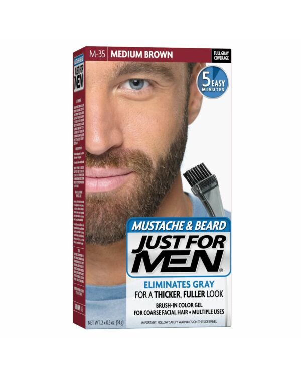Just for Men szakáll és bajusz színező - közép barna M-35