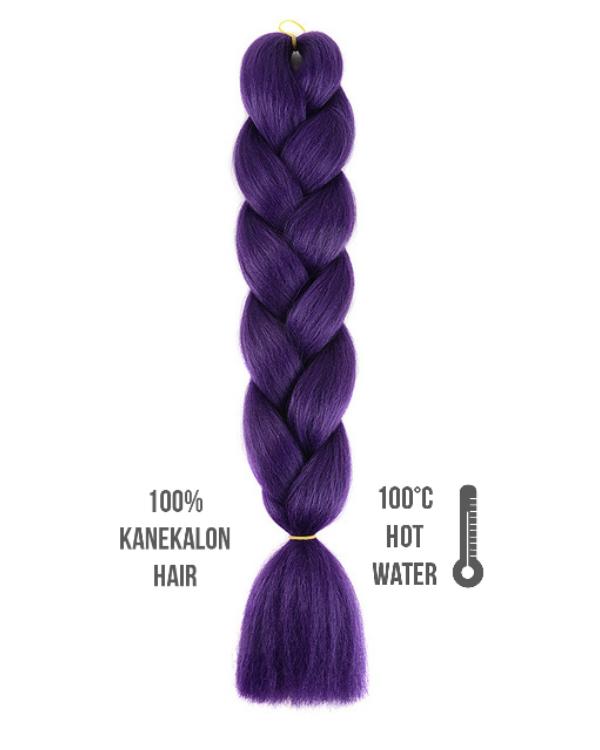 Afro szintetikus kanekalon haj purple