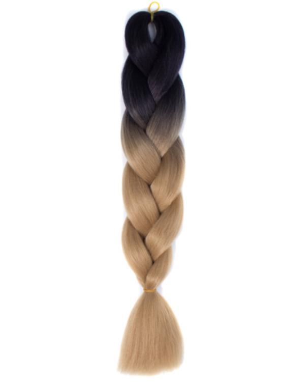 Afro ombre szintetikus kanekalon haj 23 fekete-karamell