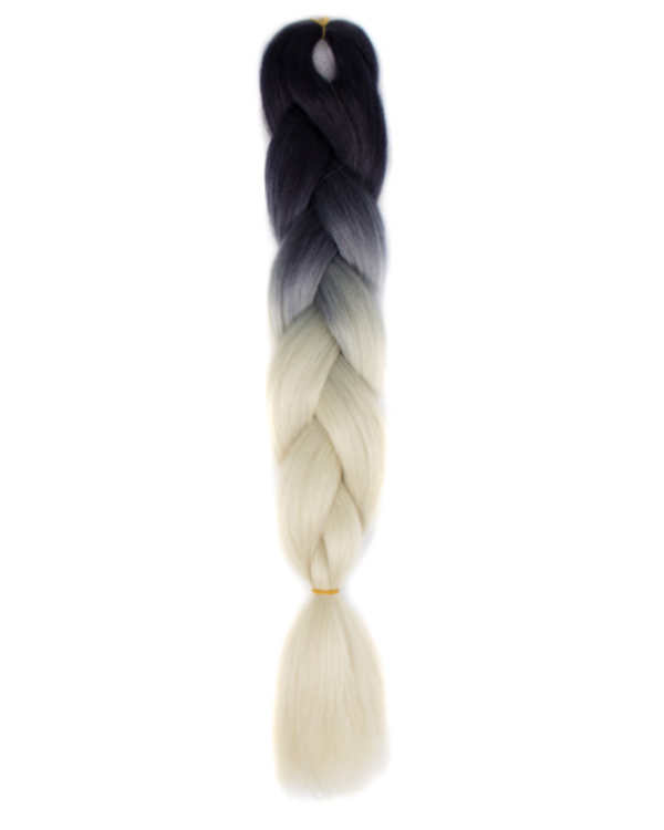 Afro ombre szintetikus haj 27 fekete-platina