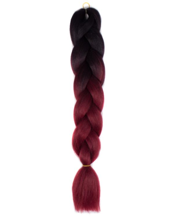 Afro ombre szintetikus haj 5 fekete-burgundy