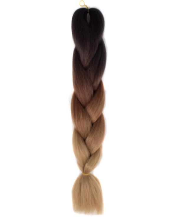 Afro ombre szintetikus kanekalon haj 53 fekete-sötétbarna-karamell