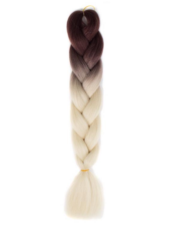 Afro ombre szintetikus kanekalon haj 31 sötétbarna-platina szőke