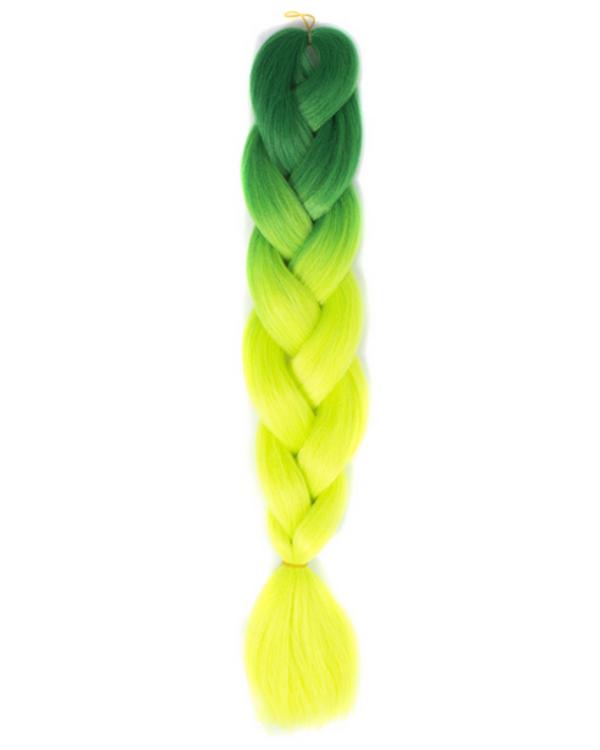 Afro ombre szintetikus kanekalon haj 38 fűzöld-neon zöld