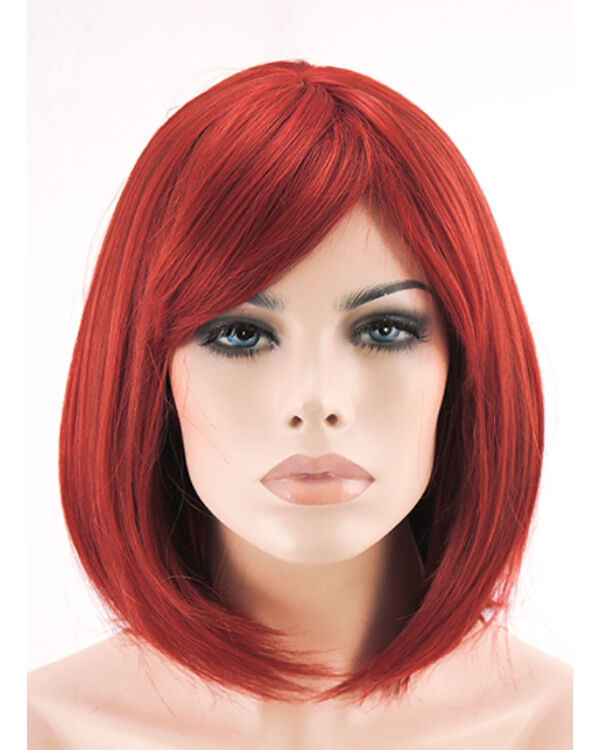 Zara egyenes paróka 40cm- Vörös