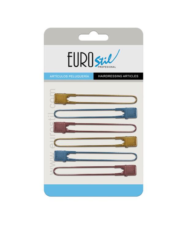 Eurostil Hajcsipesz feltűző fém színes (1 db) 00803
