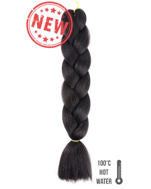 Afro szintetikus haj 1B feketés sötétbarna