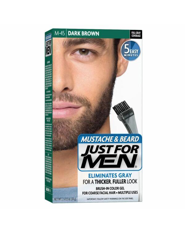 just for men szakáll és bajusz színező feketés sötét barna M-45