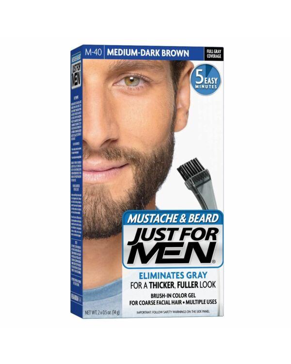 just for men szakáll és bajusz színező közép sötét barna M-40