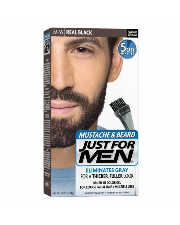 just for men szakáll és bajusz színező fekete M-55