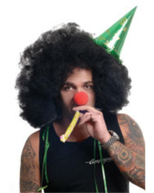 Party paróka Afro mikrofon fekete